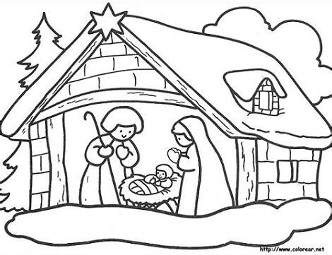 imagenes para colorear sobre la navidad dibujos navidad pesebre navidad 2016 2017