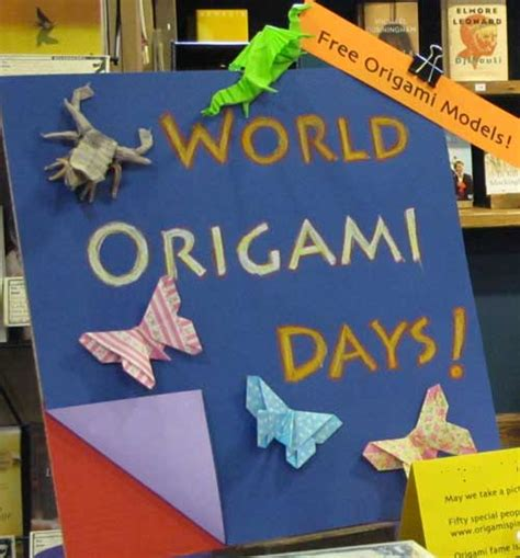 World Origami Day - celebrating world origami days at the local bookstore in