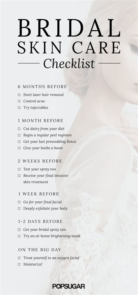 Wedding Skin Care Checklist   POPSUGAR Beauty Australia