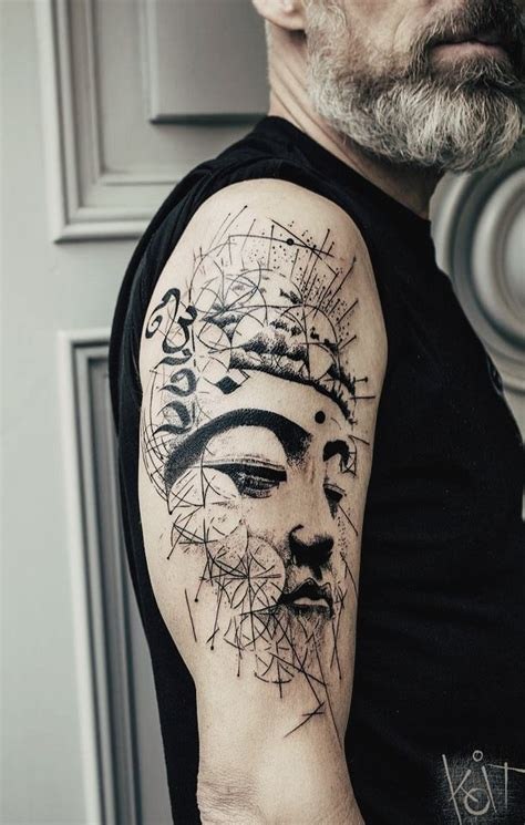 tattoos for graphic designers koit buddha arm black graphic geometric