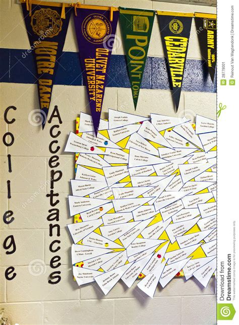 College Acceptance Letter Wall College Acceptance Editorial Photo Image 28779001