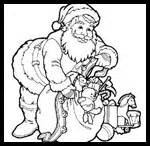 kaboose coloring pages santa coloring pages and santa printables printouts for