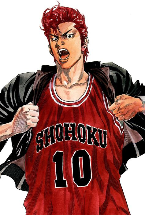 anime sports basketball slam dunk series hanamichi