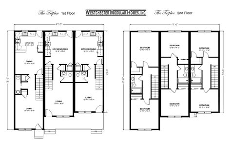 triplex plans benjamin custom modular homes floor plans