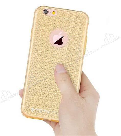 Totu Iphone 6 Plus Rosegold totu design optic texture iphone 6 plus 6s plus gold silikon kılıf
