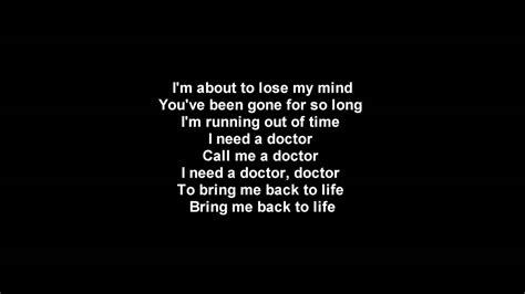 no eminem testo eminem i need a doctor lyrics hd