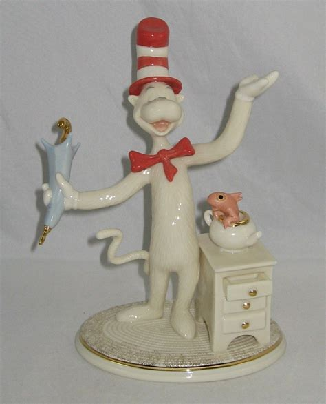 lenox dr seuss figurine the cat in the hat with coa