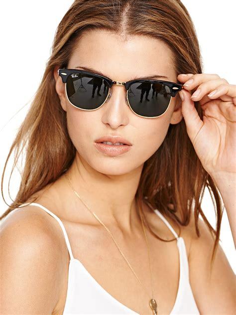 woman wearing ray ban sunglasses summer smart on clubmaster sunglasses ray ban