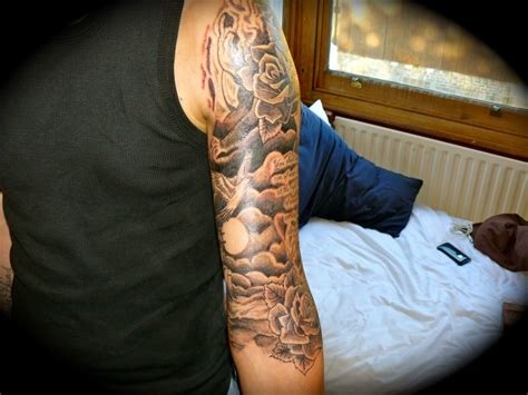 tattoos for men sleeves clouds christian tattoos design ideas for and