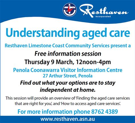 care info understanding aged care information session in penola resthaven