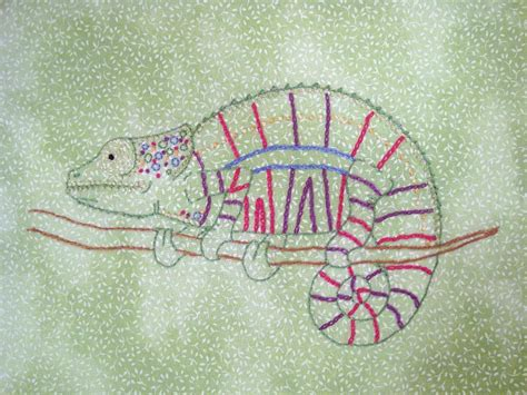 house embroidery pattern chameleon hand embroidery pattern by house of whimsy craftsy