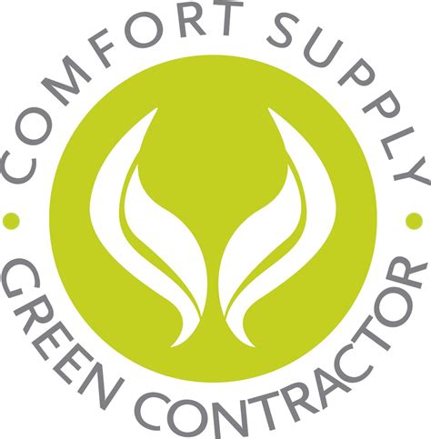 comfort supply comfort supply green contractor logo comfort supply