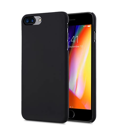 rubberized pc cover for apple iphone 7 8 plus 5 5 black
