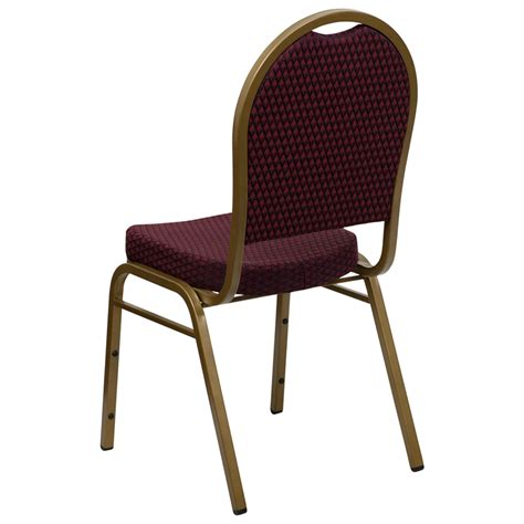 dome back burgundy fabric banquet chair