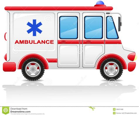 Design Plan by Ambulance Car Vector Illustration Royalty Free Stock