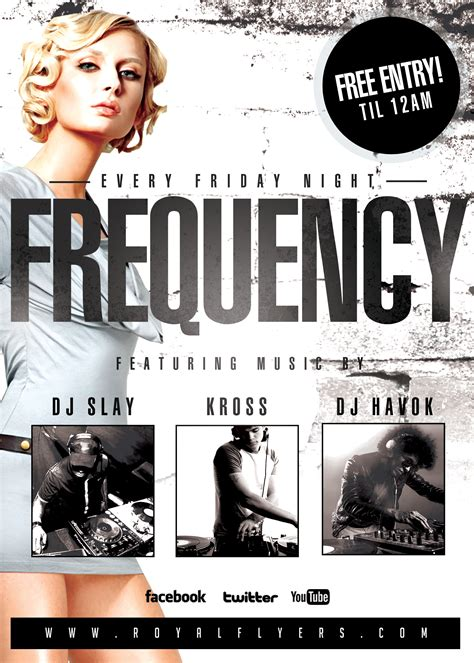 free nightclub flyer templates frequency fridays club flyer psd template royal flyers