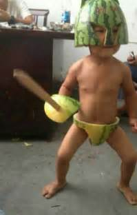 amazon black friday revenue kids in china wearing watermelon rinds in funny fashion craze