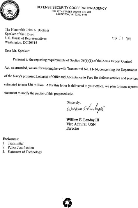 self certification notification letter ny federal register 36 b 1 arms sales notification