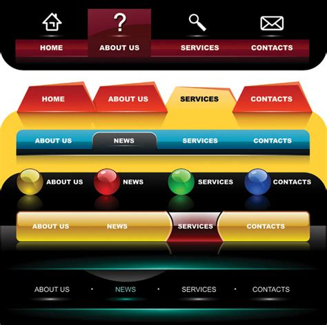 top bar website website top bar 28 images modern menu gui elements psd
