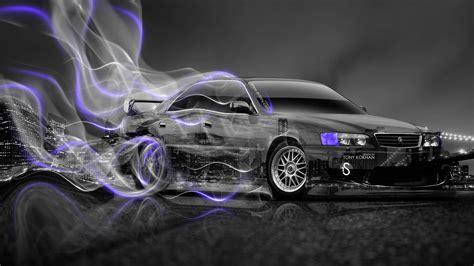 toyota chaser jzx jdm crystal city drift smoke car