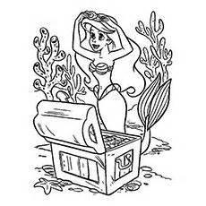 free printable mermaid crown disney princess ariel coloring pages coloring99 com