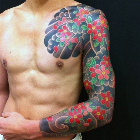 male flower tattoo designs japanese tattoos for designs ideas and meaning