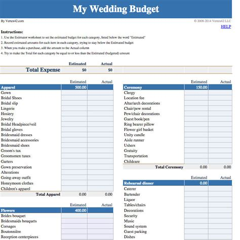 wedding budget spreadsheet google docs driverlayer