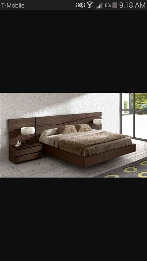 headboard with built in bedside tables floating bed with built in headboard and bedside tables