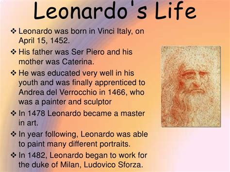 leonardo da vinci biography early life leonardo da vinci