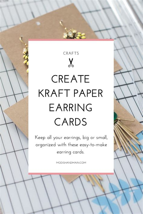 how to make your own earring cards earring display cards modish