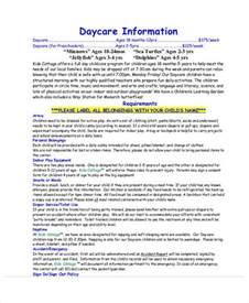 daycare information sheet template 49 information sheet exles