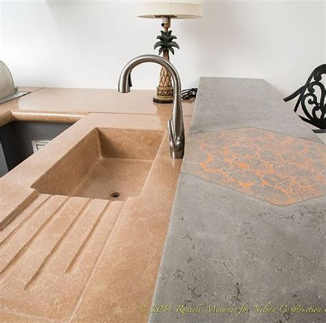 Unique Kitchen Countertop Ideas the pros and cons of concrete countertops nelson
