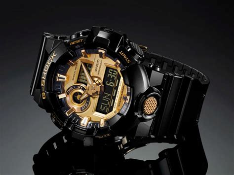 G Shock Time New Model Black Gold 1 g shock ga 710gb 1a with black and gold accents