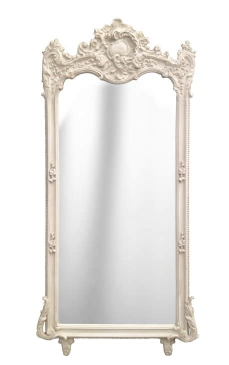 Grand Miroir Baroque by Grand Miroir Baroque Rectangulaire Beige Patin 233