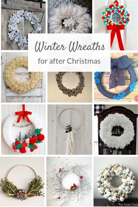 diy winter wreath ideas  purple couches