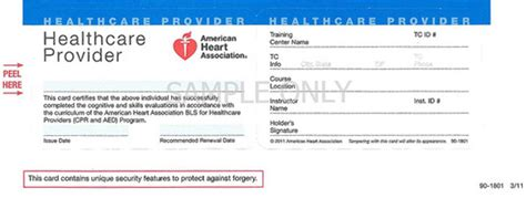 aha healthcare provider card template ashi cpr card template