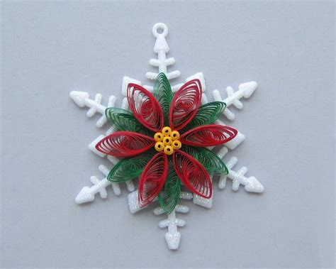 quilled christmas ornament snowflake with quilled