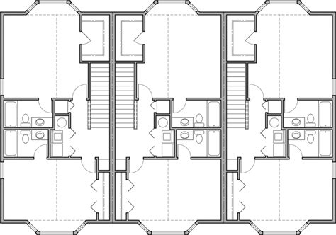 mixed use floor plans triplex house plans d 468 mixed use house plan condo plans