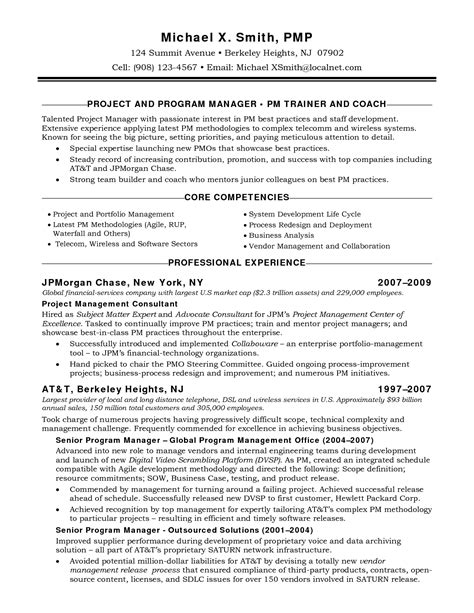 vendor manager resume the letter sle