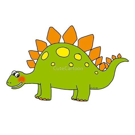 Tapestry Home Decor by Quot Funny Cartoon Stegosaurus Dinosaur Quot By Cutecartoon
