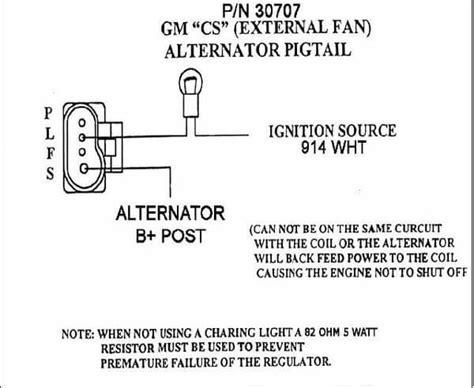 gm 4 wire alternator wiring diagram wiring diagrams