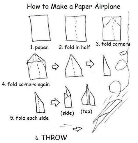 How To Fold A Paper Airplane For Distance - how to make a paper airplane the storylady