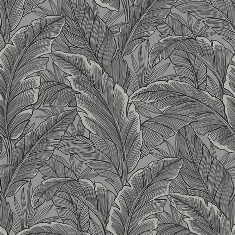 grey wallpaper with leaves pear tree tropical leaves silver grey glitter wallpaper