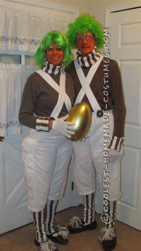 cool homemade oompa loompa couple costume oompa