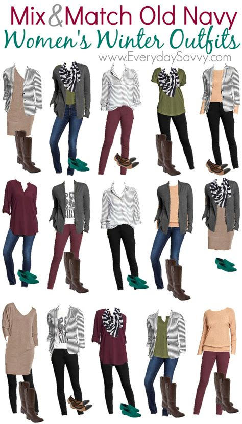 Mix And Match Wardrobe by Mix Match Winter From Navy Everyday Savvy