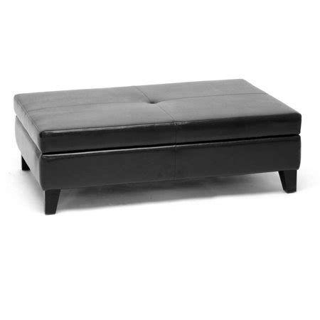walmart storage ottoman black friday baxton studio black leather storage cocktail ottoman