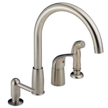 waterfall kitchen faucet peerless p188900lf sssd waterfall kitchen faucet with side
