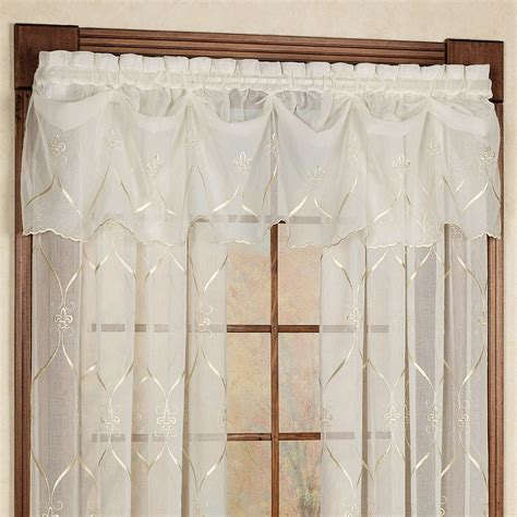 Fleur De Lis Curtains Cavalier Fleur De Lis Sheer Window Treatment By Croscill