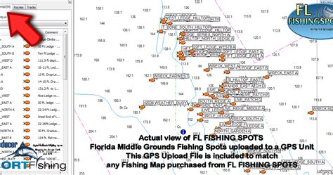 Florida Middle Grounds Fishing Map: Florida Middle Grounds ...