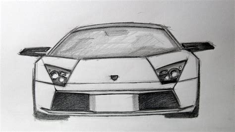 lamborghini sketch view lamborghini murcielago front sketch youtube